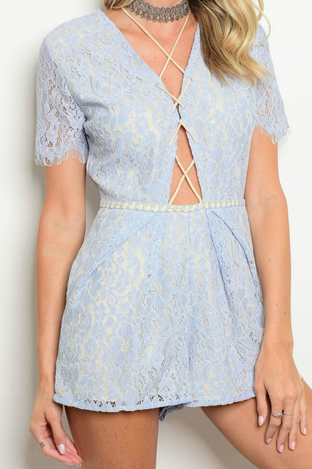 Do & Be Lace Up Romper - Main Image