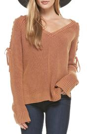 Do & Be Laced-Up Rust Sweater - Product Mini Image