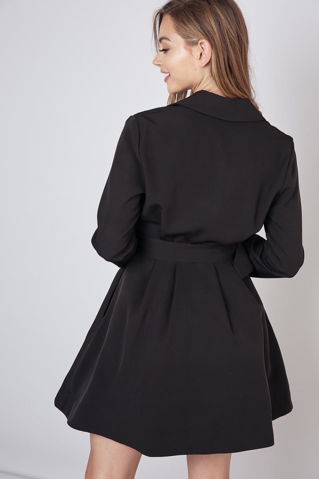 Do & Be Lapel Collar Dress - Side Cropped Image