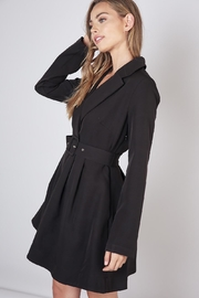 Do & Be Lapel Collar Dress - Front full body