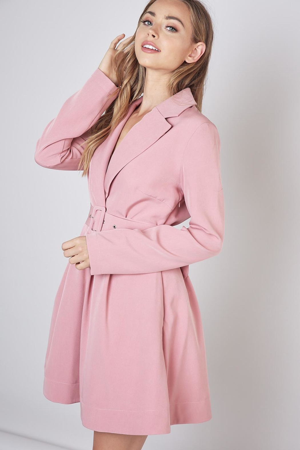 Do & Be Lapel Collar Dress - Front Full Image