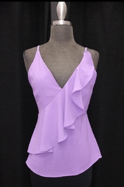Do & Be Lavender Ruffled Top - Product Mini Image