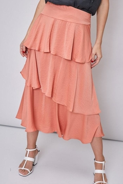 Shoptiques Product: Layered Satin Skirt