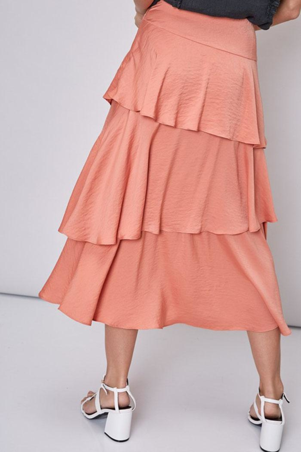 Do & Be Layered Satin Skirt - Side Cropped Image