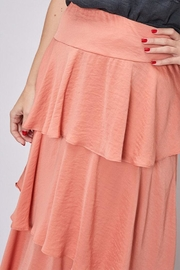 Do & Be Layered Satin Skirt - Back cropped