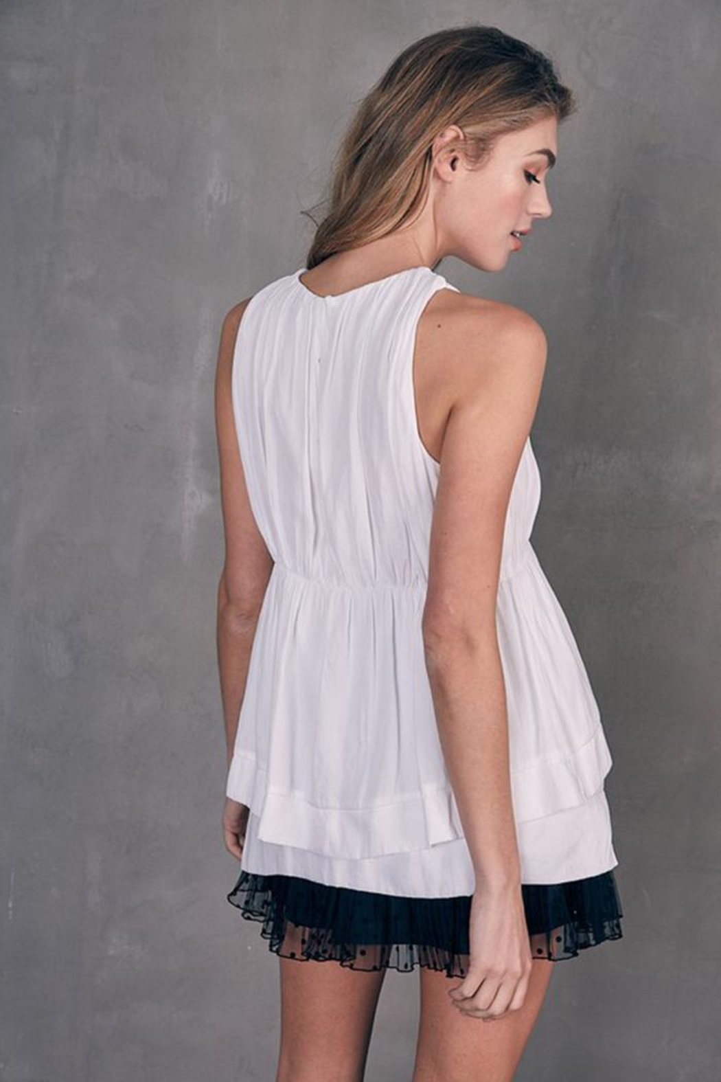 Do & Be Layered Sleeveless Top - Back Cropped Image