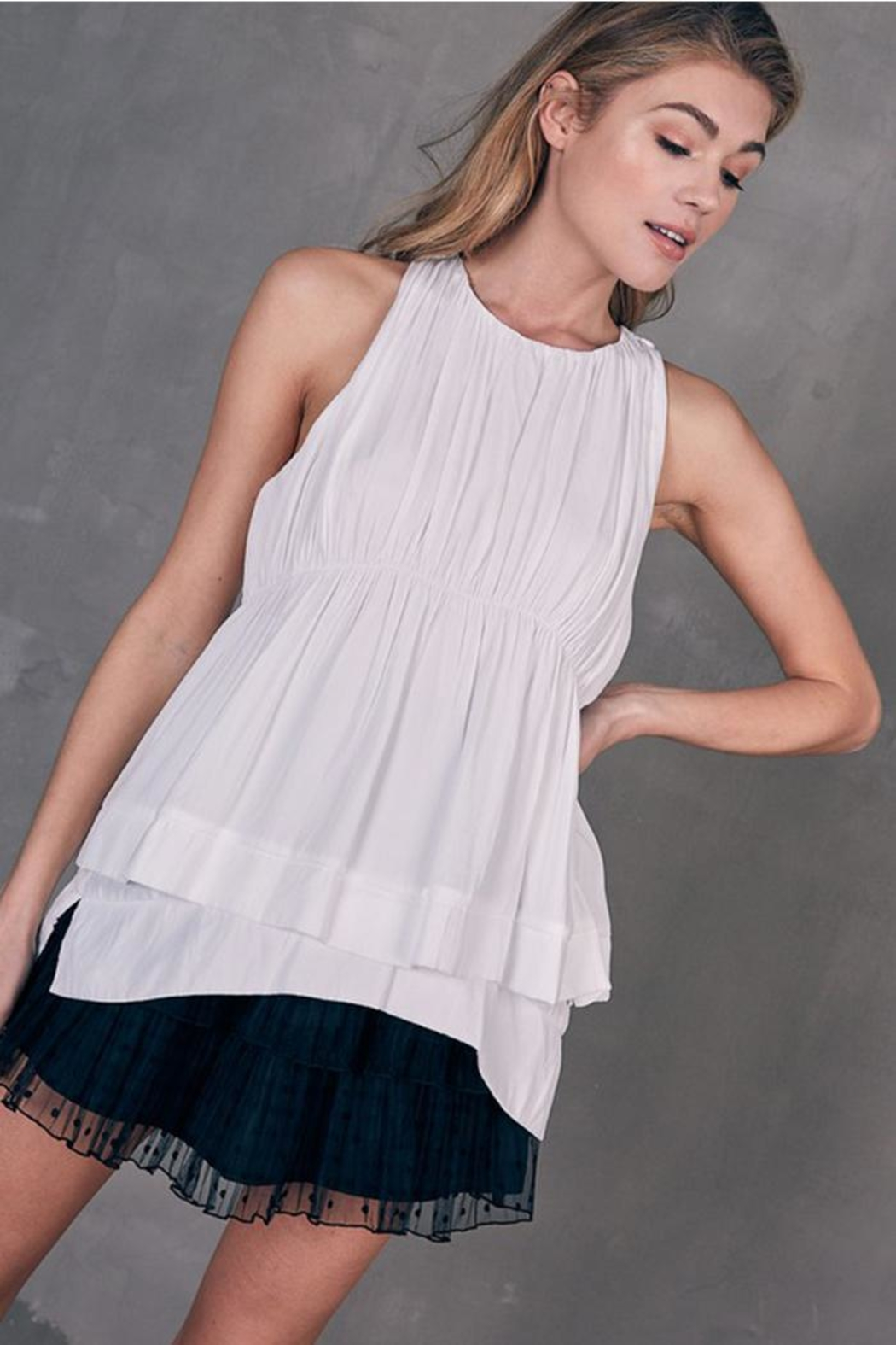 Do & Be Layered Sleeveless Top - Front Cropped Image