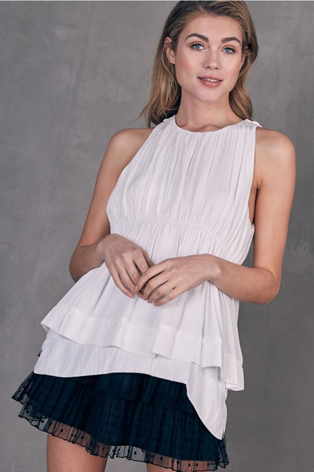 Do & Be Layered Sleeveless Top - Front Full Image