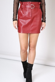 Do & Be Leather  Red  Skirt - Product Mini Image