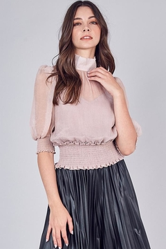 Do & Be Mock-Neck Sheer Top - Product List Image
