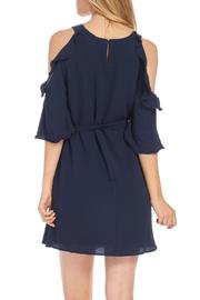 Do & Be Navy Cold Shoulder Dress - Side cropped