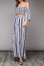 Do & Be Navy Striped Pants - Product Mini Image
