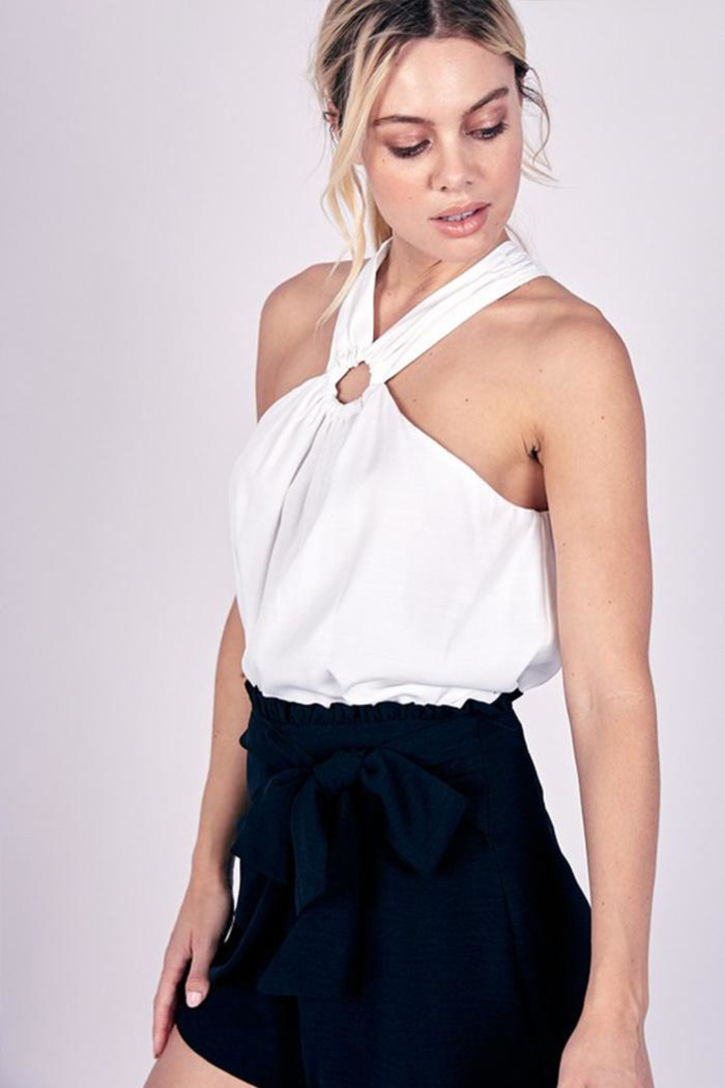 Do & Be O-Ring Halter Top - Back Cropped Image