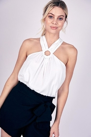 Do & Be O-Ring Halter Top - Front cropped