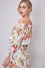 Do & Be Off-Shoulder Floral Top - Front full body