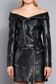 Do & Be Off-Shoulders Moto Jacket - Front full body