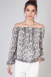 Do & Be Off The Shoulder Snake Print Top - Product Mini Image