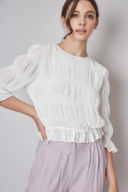 Do & Be Off-White Pleated Top - Front full body