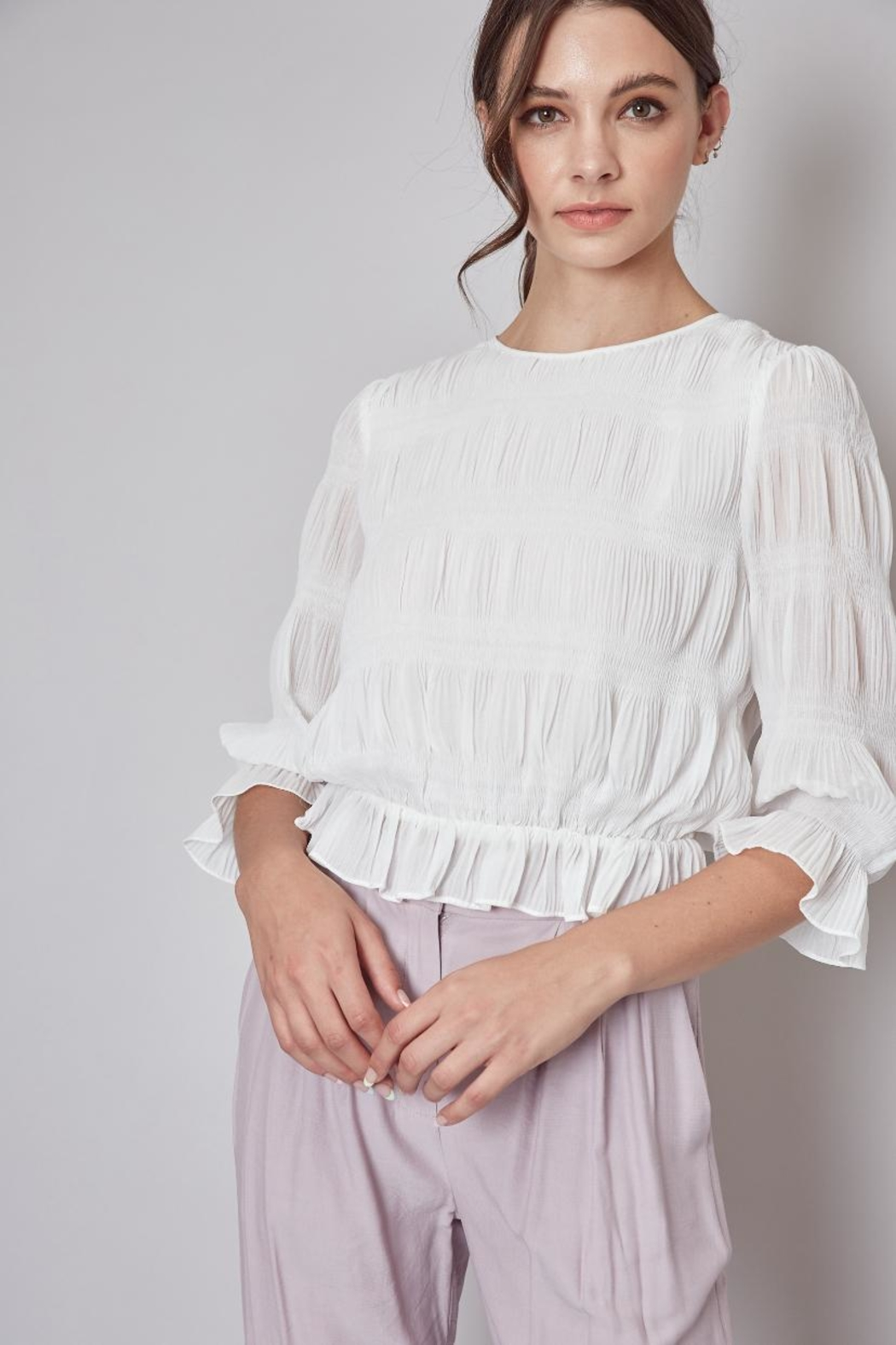Do & Be Off-White Pleated Top - Main Image