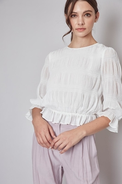 Do & Be Off-White Pleated Top - Product List Image
