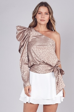 Do & Be One-Shoulder Animal Top - Product List Image