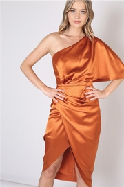 Do & Be One Shoulder Faux Wrap Dress - Product Mini Image