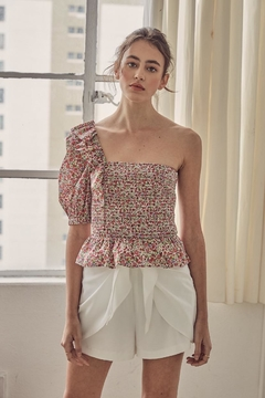 Do & Be One-Shoulder Floral Top - Product List Image