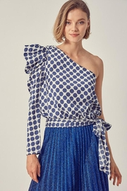 Do & Be One-Shoulder Polka-Dot Blouse - Product Mini Image