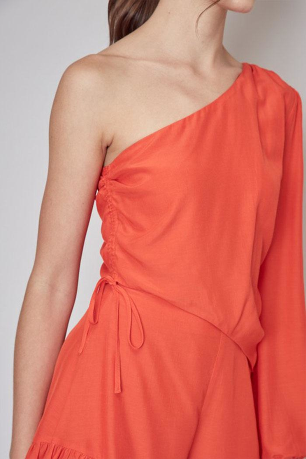 Do & Be One Shoulder Romper - Back Cropped Image
