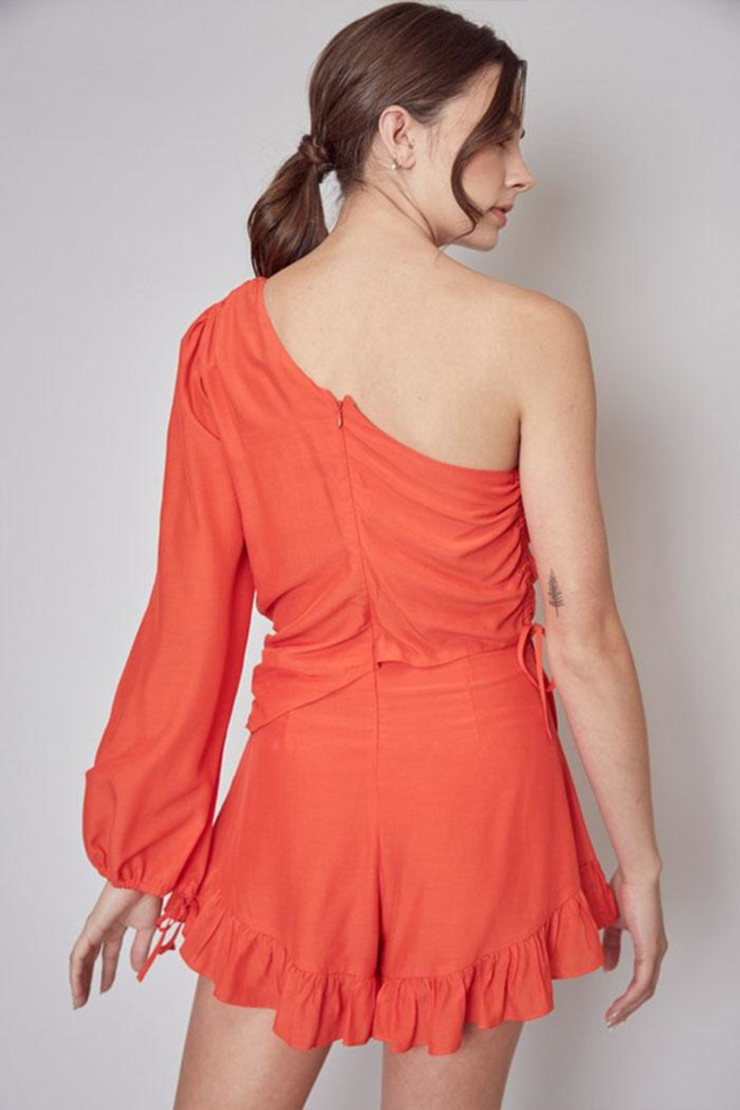 Do & Be One Shoulder Romper - Side Cropped Image