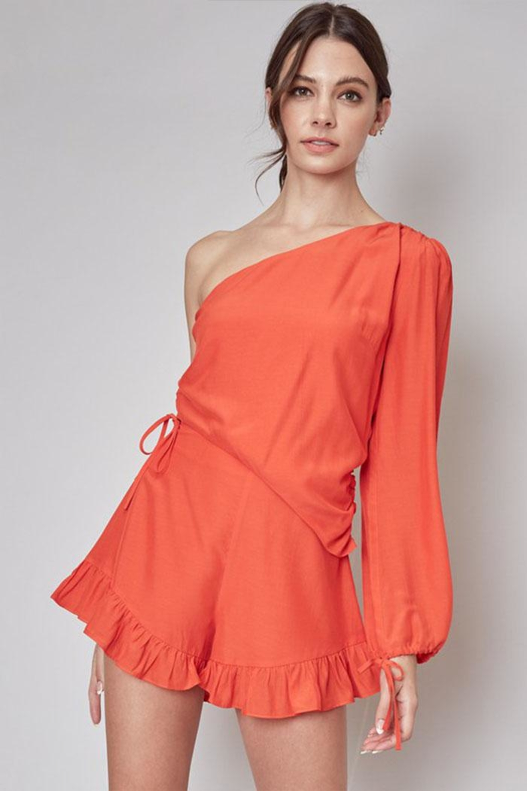 Do & Be One Shoulder Romper - Main Image