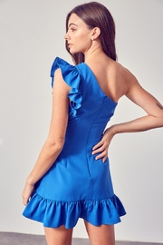 Do & Be One-Shoulder Ruffle Dress - Front full body