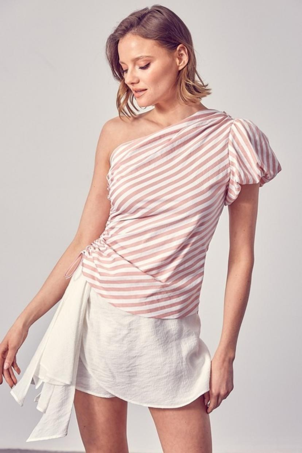 Do & Be One-Shoulder Striped Top - Main Image