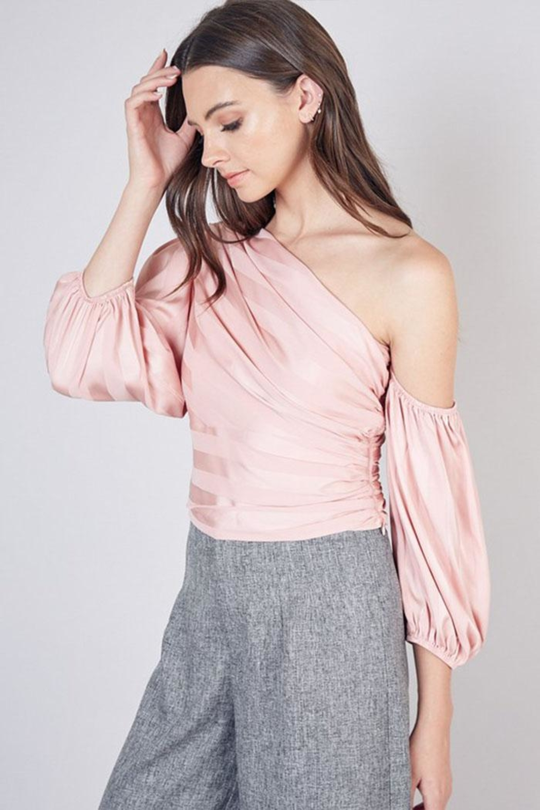 Do & Be One Shoulder Top - Front Full Image
