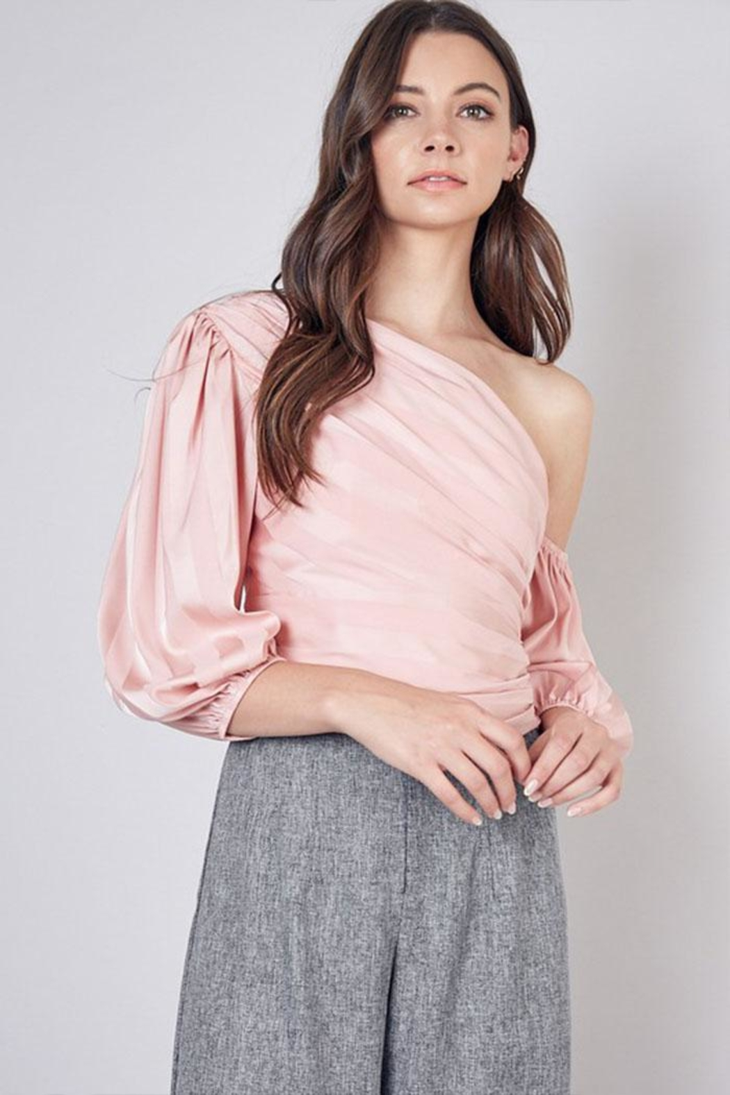 Do & Be One Shoulder Top - Front Cropped Image