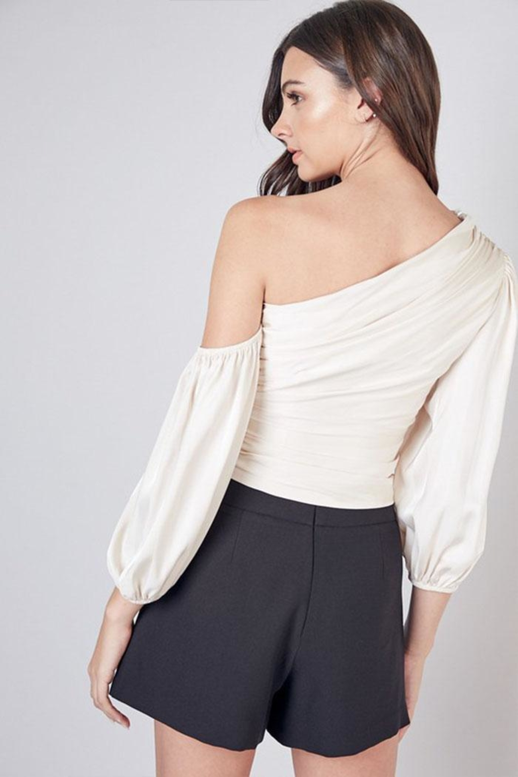 Do & Be One Shoulder Top - Back Cropped Image