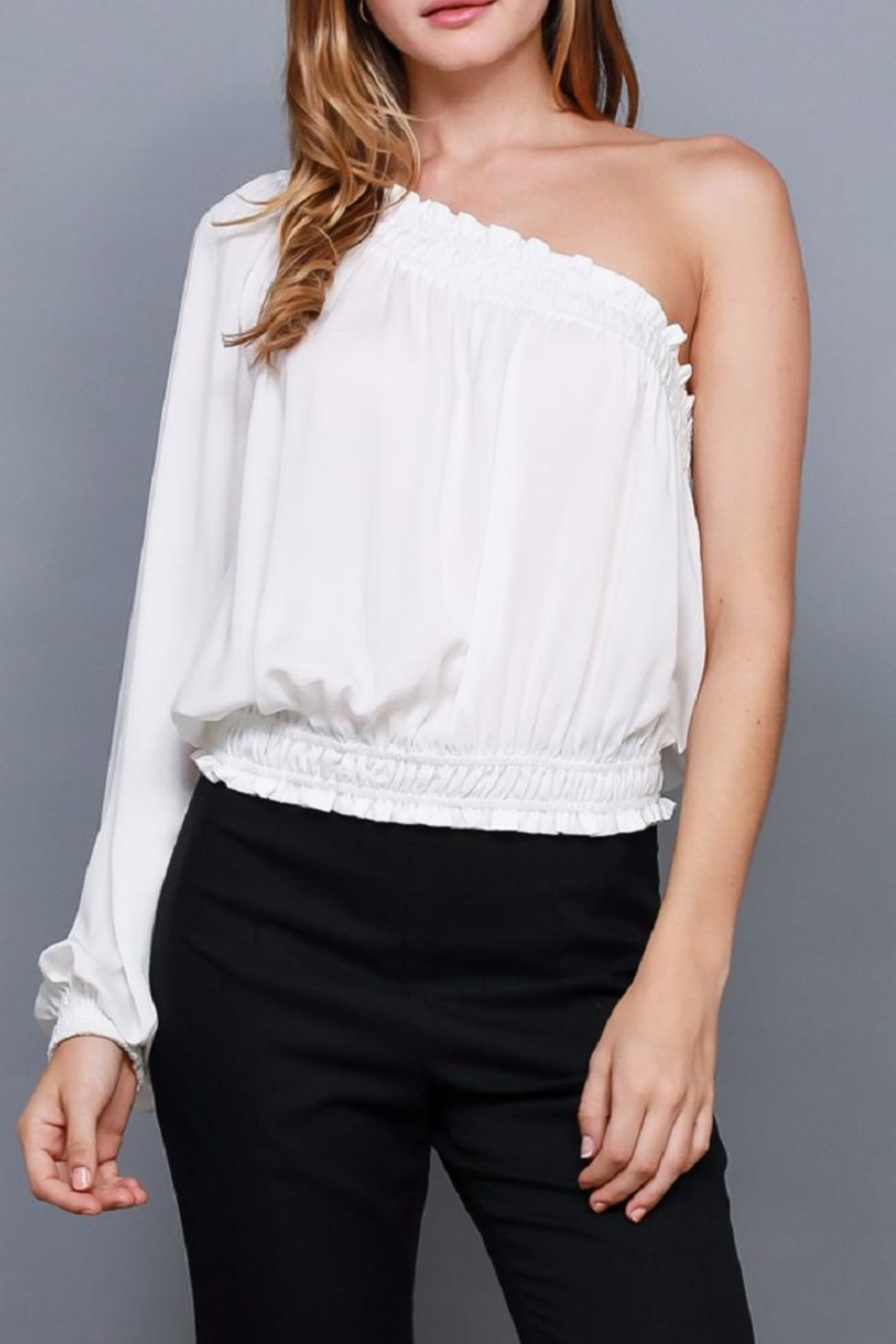 Do & Be Smocked One Shoulder Top - Main Image