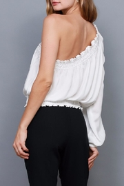 Do & Be Smocked One Shoulder Top - Front full body
