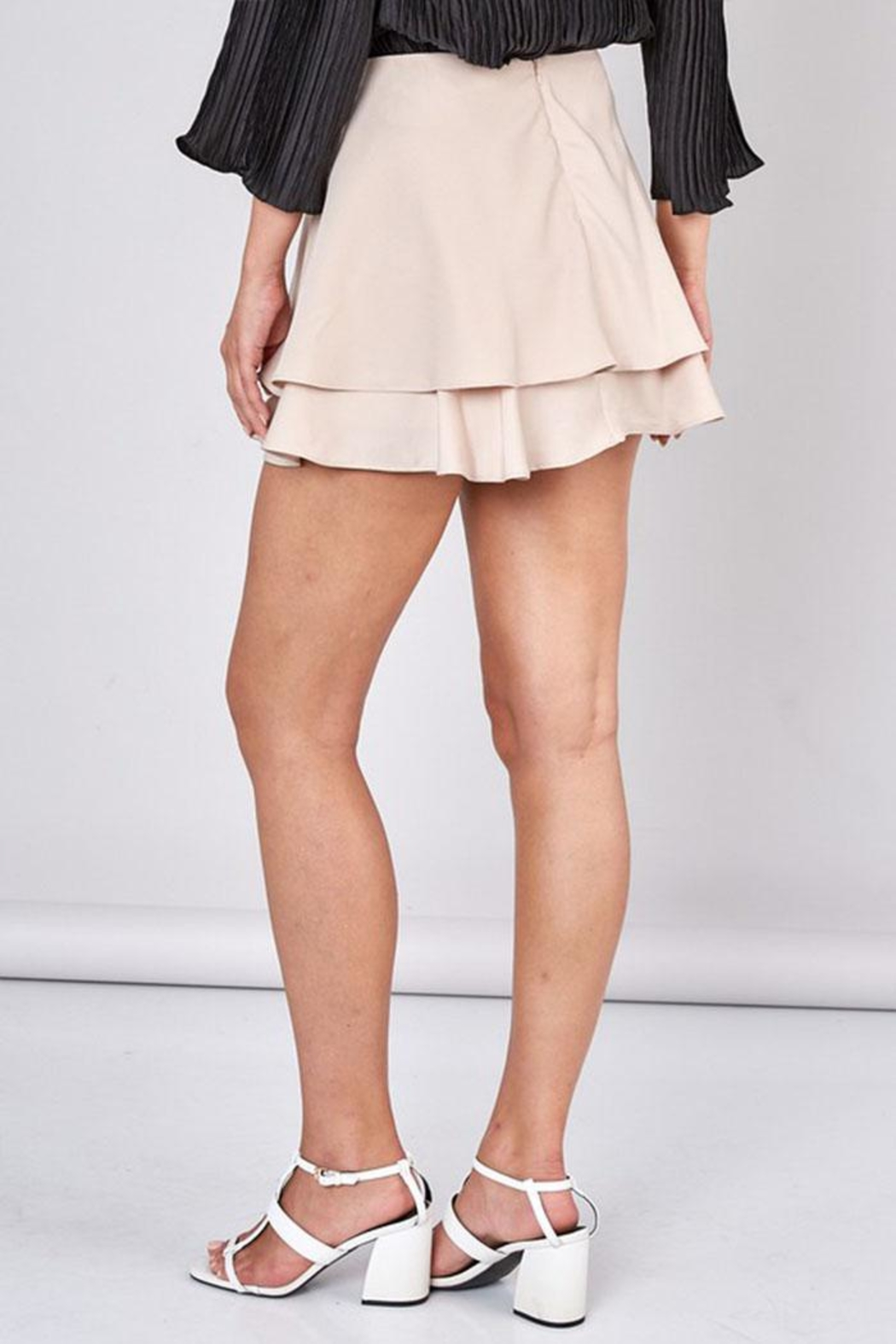 Do & Be Overlapping Mini Skirt - Side Cropped Image