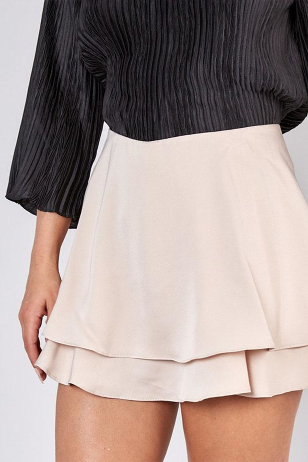 Do & Be Overlapping Mini Skirt - Back Cropped Image