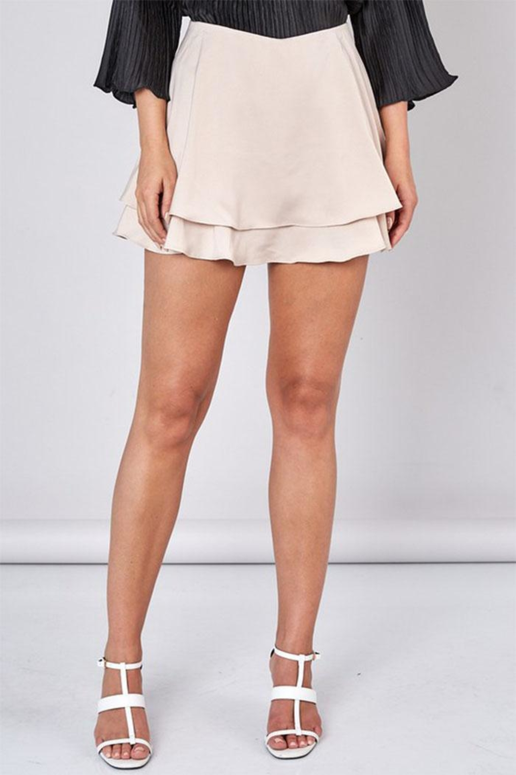 Do & Be Overlapping Mini Skirt - Front Cropped Image