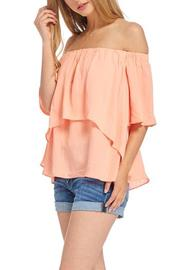 Do & Be Peach Off The Shoulder Top - Product Mini Image
