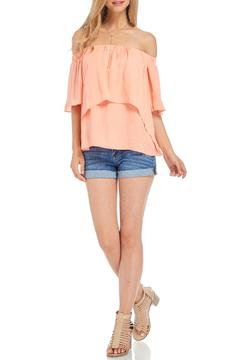 Shoptiques Product: Peach Off-Shoulder Top