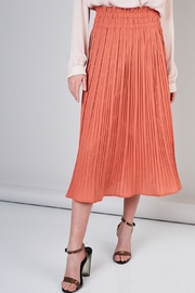 Do & Be Peach Pleated Skirt - Front cropped