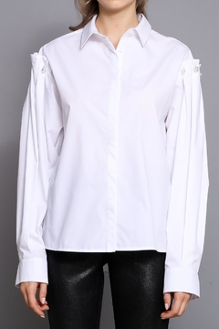 Shoptiques Product: Pearl Detail Shirt