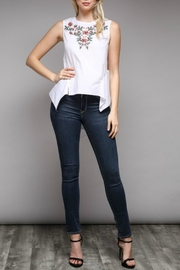 Do & Be Peplum Embroidered Top - Back cropped