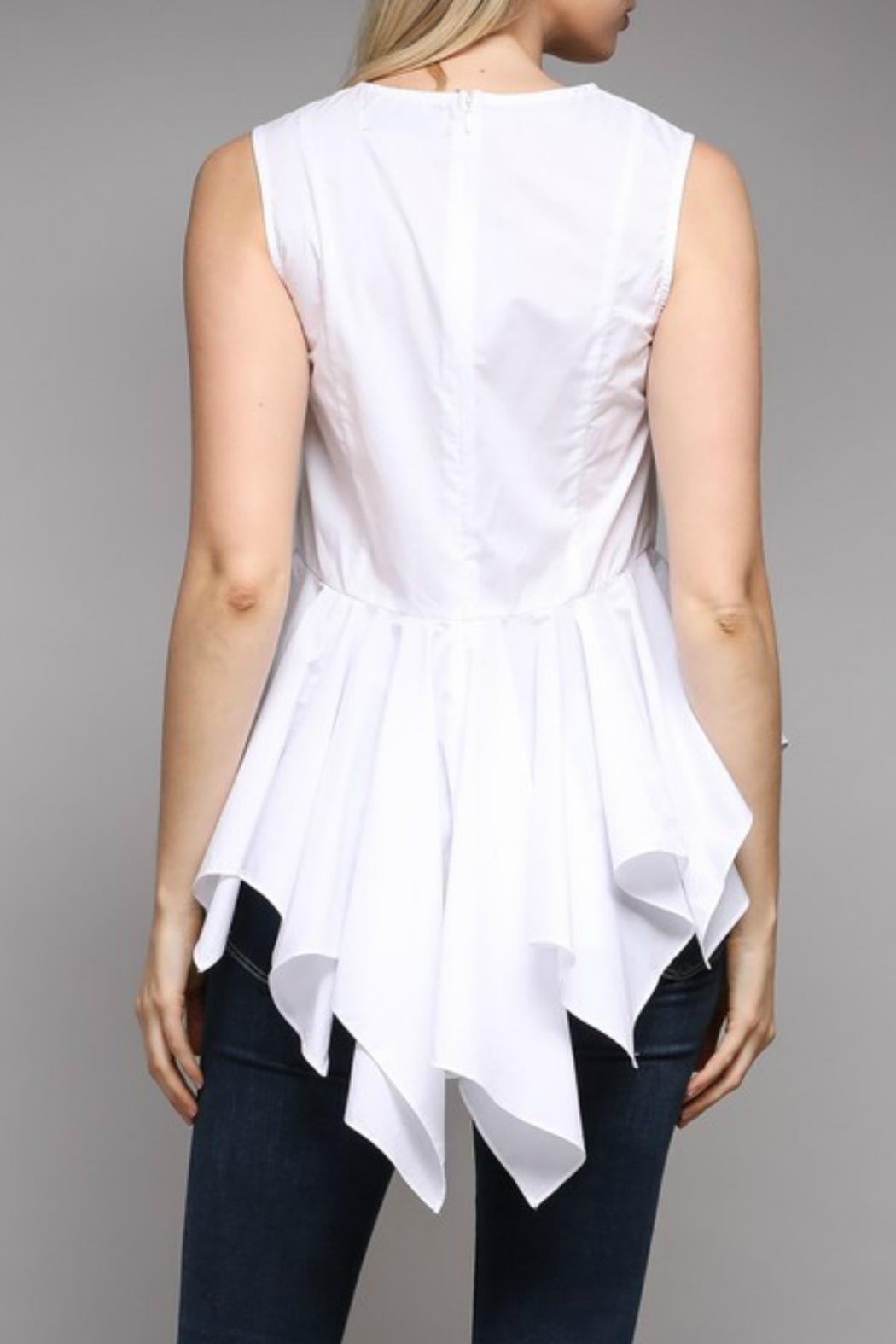 Do & Be Peplum Embroidered Top - Side Cropped Image