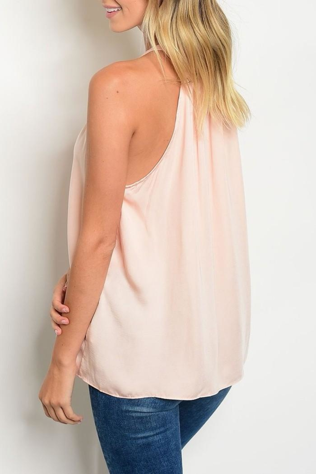 Do & Be Pink Button Halter - Front Full Image