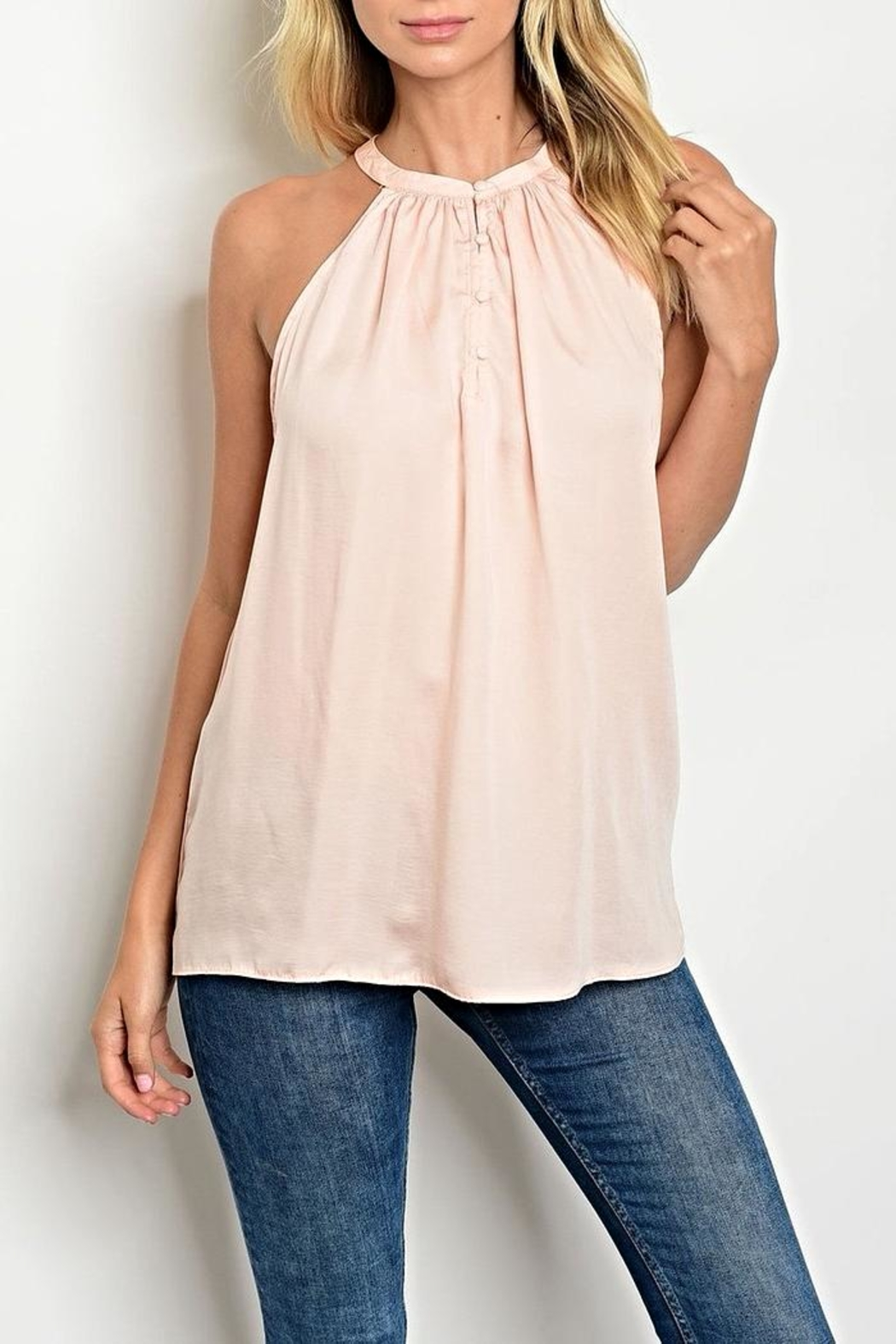 Do & Be Pink Button Halter - Main Image