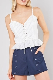 Do & Be Pinstripe Top - Product Mini Image